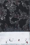 nachtblau 2008, Mischtechnik auf Leinwand, 30 x 20 cm