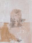 aus der Serie -in and out-, 2010 Enkaustik und Collage auf Holz, 20 x 15 cm