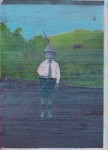 als Karl M. hinter Rosa verschwand, 2008 - 2011 Mischtechnik auf Holz, 18 x 12 cm, 14-teilig