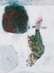 zwischenräume, 2013/14, Mitschtechnik auf Holz, 32 x 24 cm