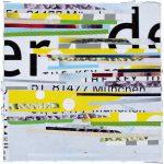 814 München, 2018, Collage, 20,5x20,5 cm